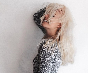 hair, blonde, and smile image