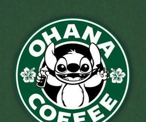stitch, coffee, and ohana image