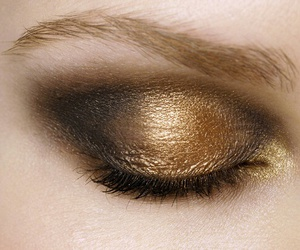 makeup, gold, and make up image