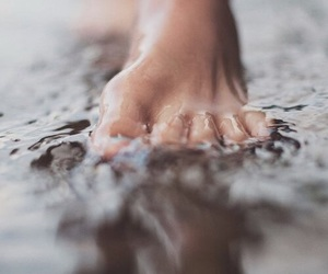 feet, water, and photography image