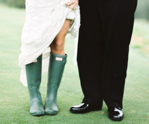 bride, funny, and couple image