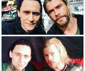 thor, loki, and Marvel image