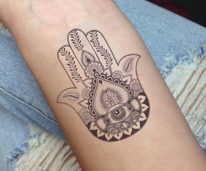 tattoo, hamsa, and hand image