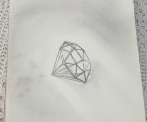 drawing, pencil, and diamond+ image