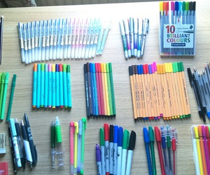 drawing, school, and stationery image