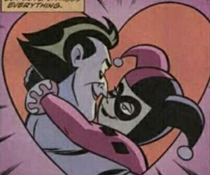 love, joker, and harley quinn image