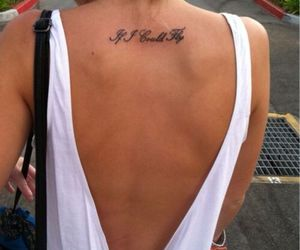 tattoo, girl, and fly image