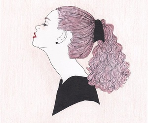 girl, illustration, and pretty image