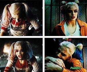 girl, harley quinn, and joker image