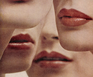 lips, photography, and vintage image