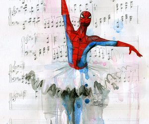 ballet, music, and spiderman image