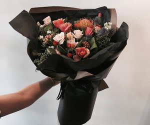 black, lux, and flowers image