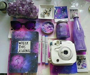 purple, journal, and space image