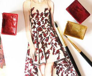 fashion, sketch, and draw image
