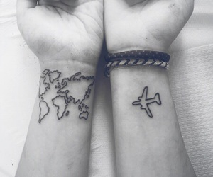 world, black and white, and map image