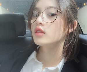 girl, asian, and glasses image