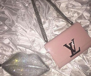 pink, bag, and Louis Vuitton image