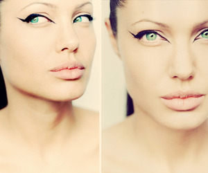 Angelina Jolie, eyes, and make up image