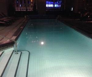 light, night, and pool image