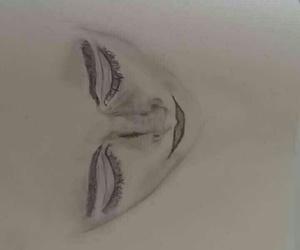 art, sad, and charcoal image