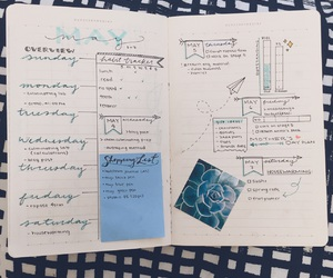 bullet journal, college, and organised image