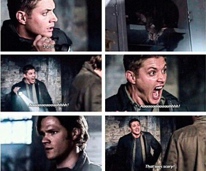 Jensen Ackles, scared, and dean winchester image