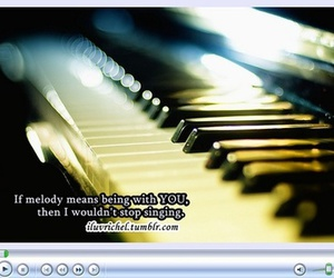 instrument, keyboard, and love quotes image