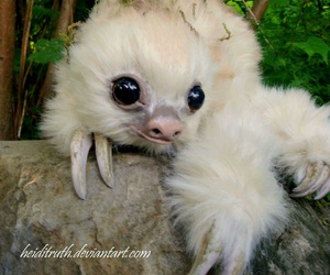 doll, sloth, and cute image