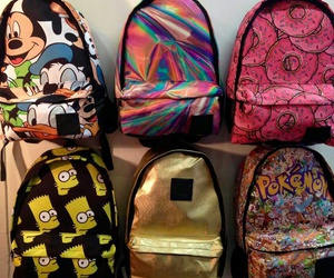 mickey mouse, pokemon, and school image