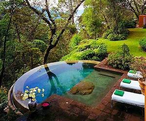 backyard, food, and meditation image