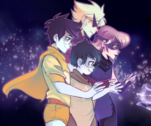 homestuck, roxy lalonde, and dirk strider image