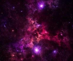 galaxy, stars, and purple image