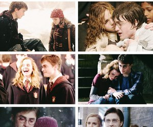 harry potter, otp, and harry and hermione image