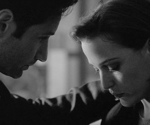 black and white, dana scully, and fox mulder image