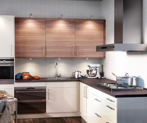 small kitchen design and furniture layout image