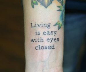 tattoo, quote, and text image