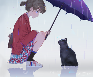 anime, cat, and neko image