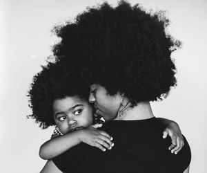 Afro, mother and child, and baby image