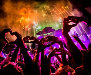 music, festival, and tomorrowland image