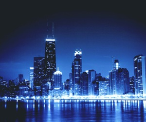 night, blue, and city image