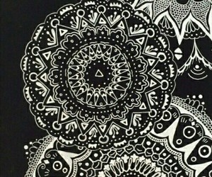 mandala, black, and wallpaper image