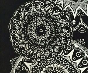 mandala, black, and wallpaper image