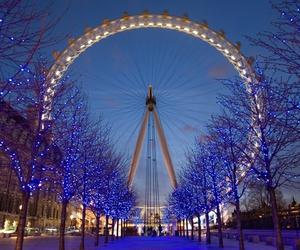 london, light, and london eye image