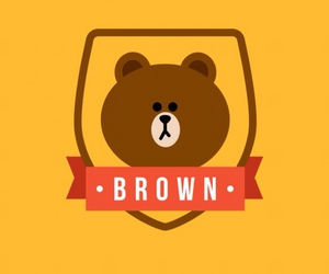 bear, brown, and line image