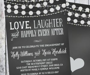 engagement, invitation, and party image