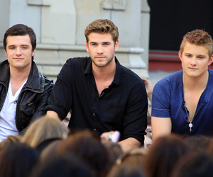 josh hutcherson, liam hemsworth, and the hunger games image