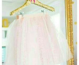 girly bedrooms, pink tulle skirts, and gold polka dot wallpapers image