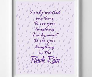 purple rain, prince purple rain, and prince lyrics image