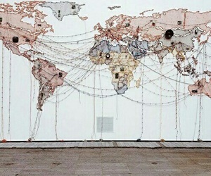 world, travel, and map image