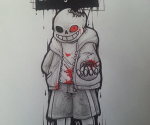 game, sans, and horrortale image